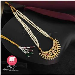 Premium Quality Golden Pendant_Online _MaherFashion_Mumbai - Maher Fashion(Fashiontrends)