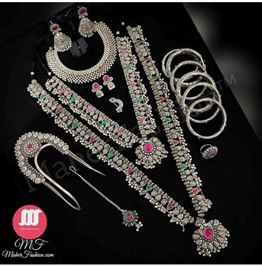 Bridal Oxidise  Combo Set Online_Maherfashion(Mumbai) - Maher Fashion(Fashiontrends)