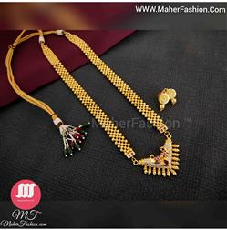 Peacock Designer necklace_Online _Maherfashion_Mumbai - Maher Fashion(Fashiontrends)