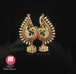 Peacock Style Earr Cuff - Maher Fashion(Fashiontrends)