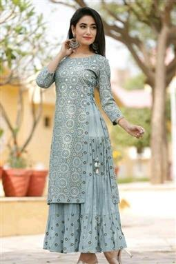 Women's Double Layered Kurti - LeZaa