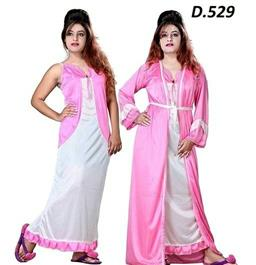 Satin Night Sleep & Robe Set - LeZaa
