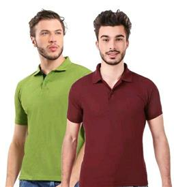 Polo Neck Men's T-shirts (Pack Of 2) - LeZaa
