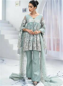 Beautiful Embroidered Georgette Suit - LeZaa