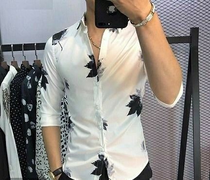 Men's Regular Fit Printed Casual Shirts  - LeZaa