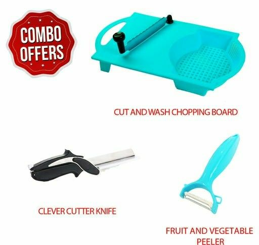 Cut wash Combo with Clever Cutter and Mango Peeler - LeZaa