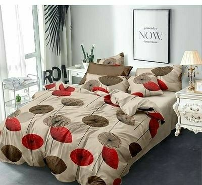 Classy Glace Cotton Printed Double Bedsheet - LeZaa