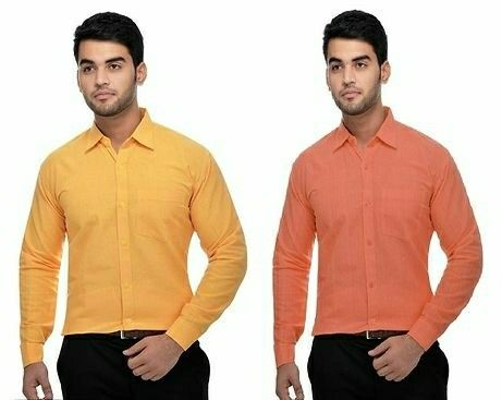 Men's Multicolored Khadi Formal Shirt(Combo) - LeZaa