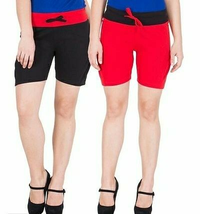 WOMEN'S COMFY COTTON SHORTS - PACK OF 2  - LeZaa