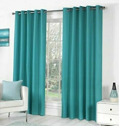 Solid Door Curtains Set Of 2 - LeZaa