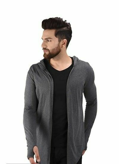 Trending Men's Cotton Blend Solid Cardigan   - LeZaa