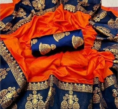 Women's Jhumki Border Cotton Silk Sarees  - LeZaa
