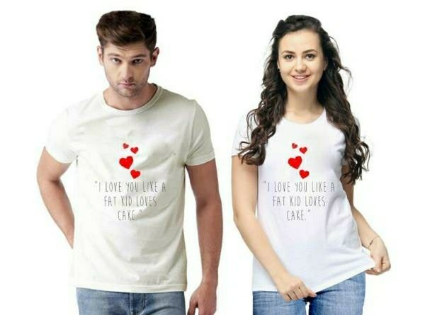 Trendy Premium Printed Couple T-shirts - LeZaa