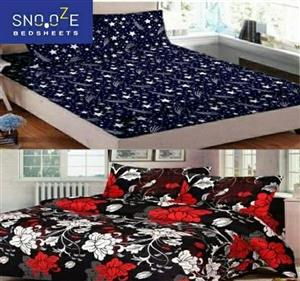 Snooze Polycotton Double Bedsheet(Buy 1Get 1Free) - LeZaa