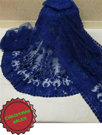 Net Embroidery Work Saree with Blouse Piece - LeZaa