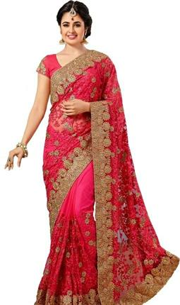 Stylish Women's Net Saree - LeZaa
