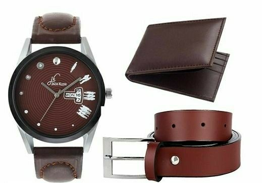Quality Men's Watches With Belt & Wallet - LeZaa Fashion