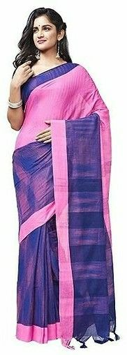 Best Selling Multicolor Daily Wear Cotton Sarees   - LeZaa