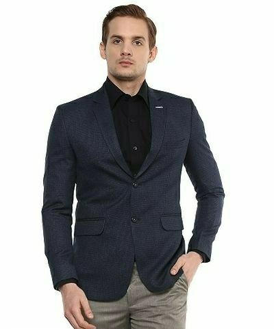 New Solid Single Breasted Formal Men Blazer   - LeZaa