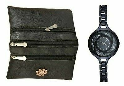 Combo Of Women's Bag & Metal Watch - LeZaa