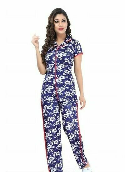 Women's Printed Night Suit Set  - LeZaa