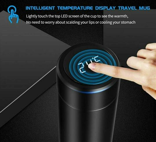 Temperature Display Indicator Insulated Hot & Cold Flask Bottle  - LeZaa