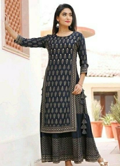 New Rayon Printed With Embroidery Work Skirt Set - LeZaa