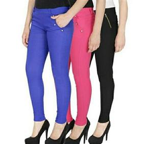 Women's Comfortable Cotton Lycra Jegging - LeZaa