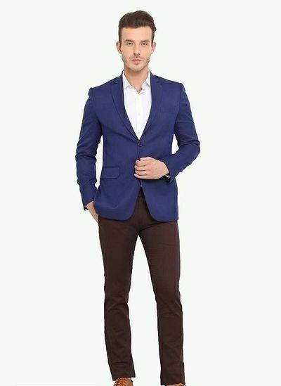 Single Breasted Casual Men Blazer - LeZaa