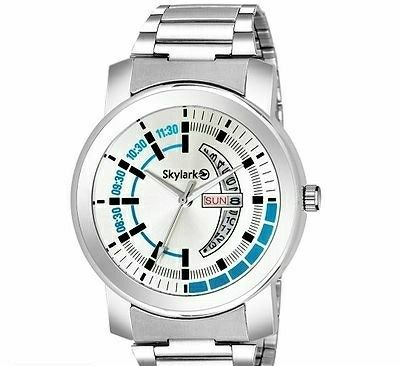 Stylish Metallic Day & Date Watche for Men   - LeZaa