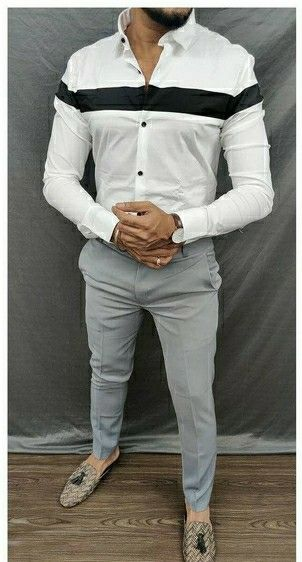 Lycra Stretchable Slim Fit Casual Shirt - LeZaa