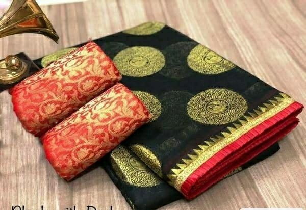 Pretty Chanderi Silk Sarees With Foil Printed Work - LeZaa