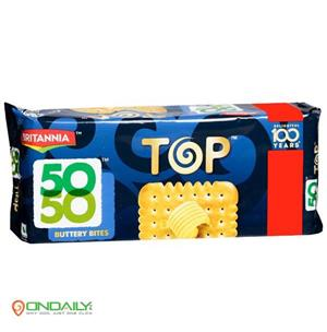 Britannia 50-50 Top Buttery Bites Biscuits 200 gm - Ondaily.in