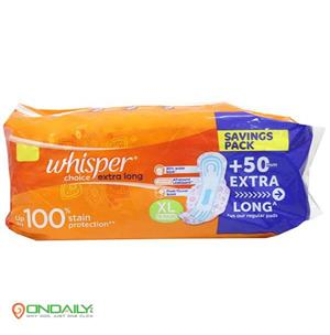 Whisper Choice Extra Long XL Wings 18 Pads - Ondaily.in