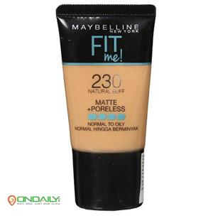 Maybelline Fit me Liquid Foundation Matte + Poreless Normal To Oily 230 Natural Buff 18 ml - Ondaily.in
