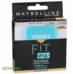 Maybelline Fit me White Superfresh Matte+Poreless 109 Light Ivory Spf 28 Marble Compact Powder 8 g - Ondaily.in